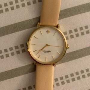 Kate spade nude leather and gold watch